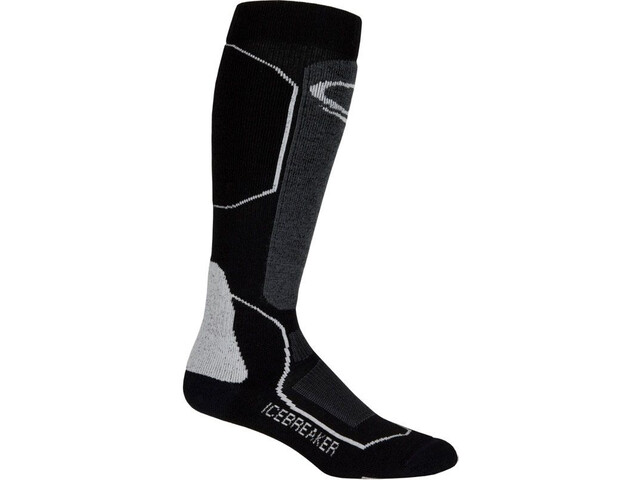 Icebreaker Ski+ Medium OTC Socks Dam black/oil/silver